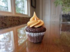 Chocolate caramel cupcake