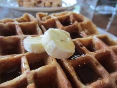 Raspberry banana waffles