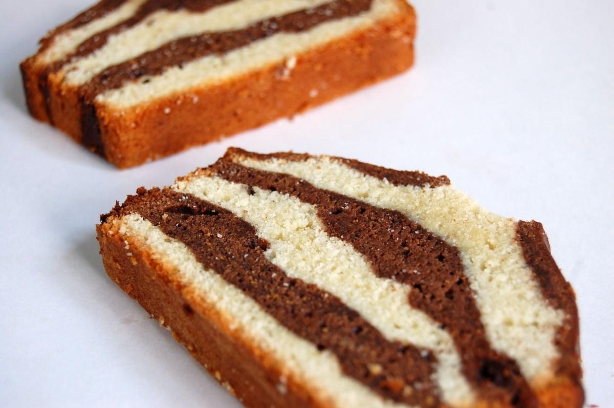 chocolate cherry marble pound cake | lena's lunchbox