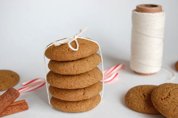 white chocolate gingersnaps