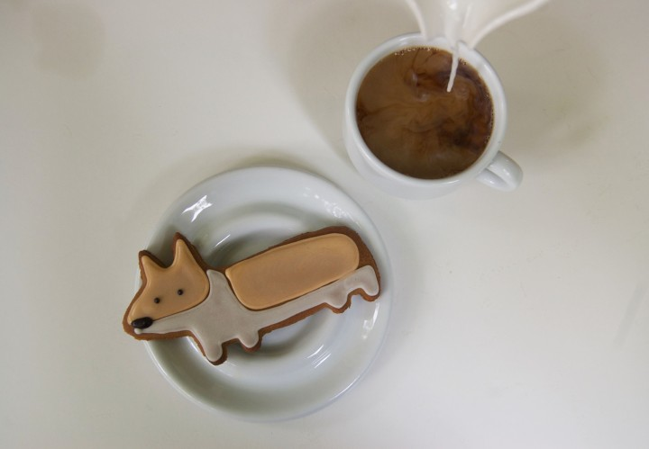 gingerbread corgi cookies