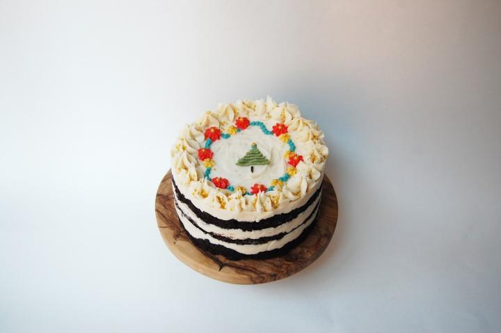 floral christmas cake